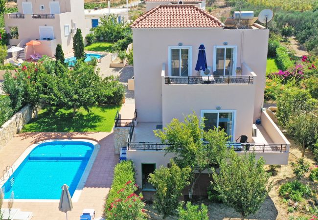 Aerial view of the villa of the villa in Walking distance to the beach, Near tavern, Chania, Crete